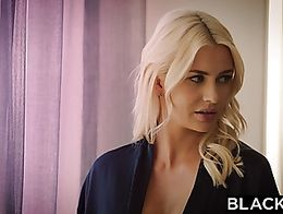 Blonde wife Gigi Allens gives her husband friend a blowjob in kitchen  1460844