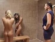 3 hot schoolgirls in lesbian scene