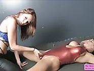 castration fetish ballbusting talk bella love leena sky lesbian bondage femdom teasing dungeon