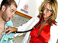 Dr. Jodi West gives Ralph the treatment he needs by showing he how to fuck a doctor in her hot ...