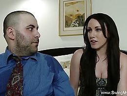 Cuckold MILF from Swing My Wife fucks a total stranger here. From Swing My Wife.