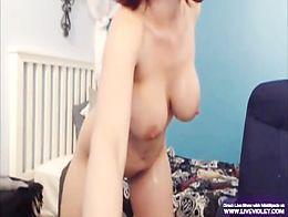 Hot redhead milf Nikki masturbates gets squirt