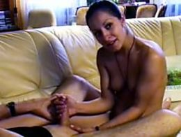 Amina likes to see fresh jizz