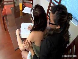 A teacher her student having sex