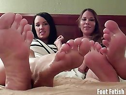 What are you staring at? Do you like our feet? Haha we think you do! You can't seem to take you...