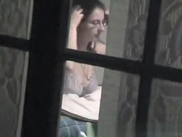 Short video spying my neighbour .
