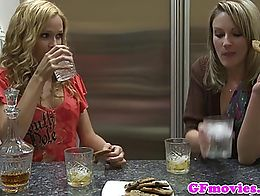 Sapphic les pussylicking tight wet girlfriend after scissoring and loves it