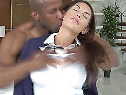When Jade sees Jasons huge dick, she can not wait to get it in her soft mouth. She services him...