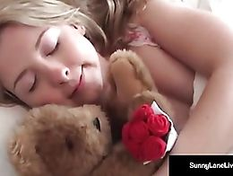Sleeping Sunny Lane Is woken up with masterful Pussy stroking by the Legendary MILF Vicky Vette...
