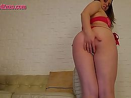 Look at how sexy my ass looks in this red thong. I let you jerk-off and worship my ass as I sha...
