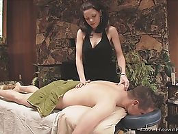 She loves giving massages, especially ones that involve a rock solid cock. After she sucks this...