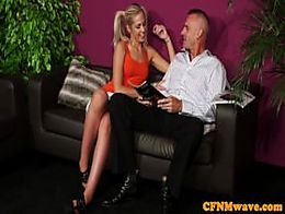 Adele cherry gives rough hj to boutique customer - 2 part 10