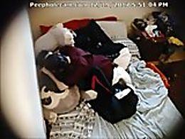 Live Hidden camera captures lesbians having sex