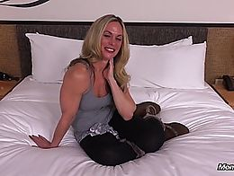 You can enjoy her full video and many more Amateur Milfs trying porn at MOMPOV
