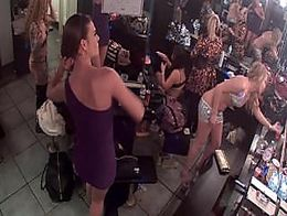 Strip club dressing room camera.