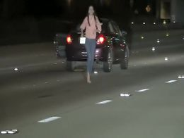 Just watch this reckless girl as she sits in her broken down car in the middle of the highway a...