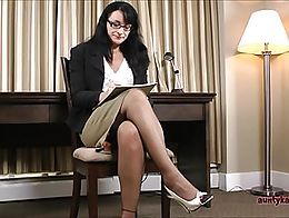 You dirty old man. I think you like being the boss and making me let you look up my skirt. Does...