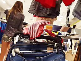 Teen shopping in tiny camo shorts beautiful legs and ass, candid voyeur, what would you do to h...