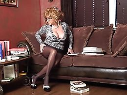 Ginger sure gives you a reason to go to the library. She's always bending over and with th...