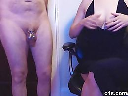 I have kept my pet in his chastity cage for weeks, wanting to see what happens to a man's ...