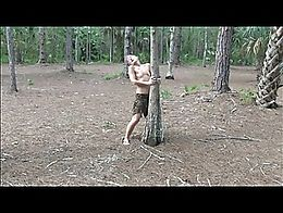 3 Bimbo Whores fucked in Forest