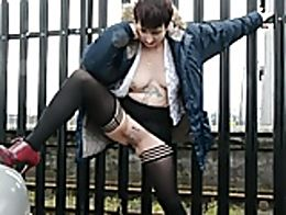 Marie peeing at Taunton railway station