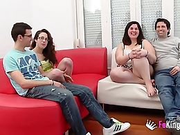 This is the first time they see their couples fucking another person. We have seen Fabiola and ...