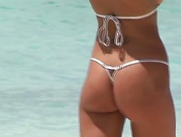 micro tiny bikini public beach flash flashing voyeur exhibitionist busty big tits titties ass p...