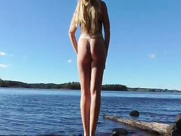 Squirting milf outdoor caught girl masturbate amateur orgasm squirt
