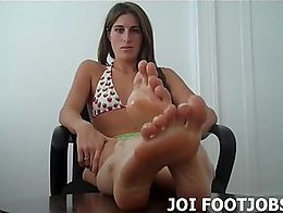 Hey there. My feet are freshly washed and covered in oil - I hope you know what that means. See...