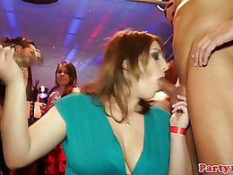 Amateur european cocksucking and tugging on the dancefloor