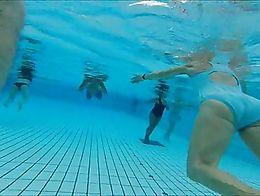 Pregnant, granny, mature surprise underwater