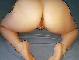 This is what happens when she lets strangers cum inside her.