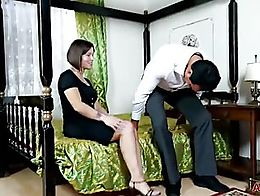 Beautiful mature MILF Jamie Ray from AllOver30 gets fucked by her horny man, getting her toes s...