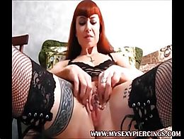Visit MySexyPiercings.com for more pierced and tattooed sluts who like to decorate their pussy ...