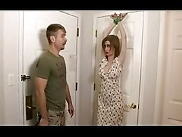mature woman and husband in bondage with light flogging - pussy fuck - anal fuck - messy facial