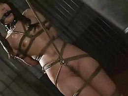 Suzu Wakana gets wedgie bound, ball gagged and whipped like the dumb whore she is!