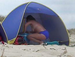 beach strand playa praia pila nudist ohne nude boobs tits tetas busen nackte spy hidden heimlic...