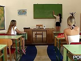 What do you get when you have three of the dirtiest little sluts in your classroom? Watch and s...