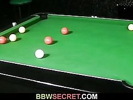 Wife leaves and he fucks fat bitch on pool table