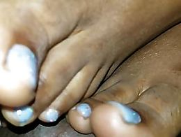 Sparkle Baby Blue Toes