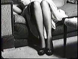 Pinup posing on the couch( no sound)