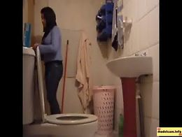Hottest Beautiful Brunette in the Toilet Bathroom Hidden Cam cam girl ...