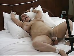 The Hyatt Session Part 1: A little bit of bondage and a lot of fuck machine!