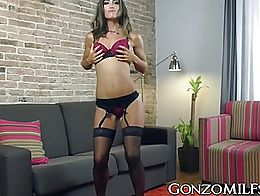 Big ass MILF Julia Roca gets poked by a hunky guy so hard that she squirts uncontrollably all o...