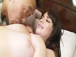AMWF Latina Ashlyn Rae interracial with Asian guy