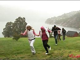Norwegian college girls having group lesbian orgy