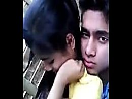 Cute indian teen girl boobs pressing kissin