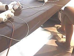 Boso sa chic na may labanos na legs faceshot sarap