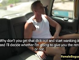 British cabbie doggystyled by her passenger before outdoor sex